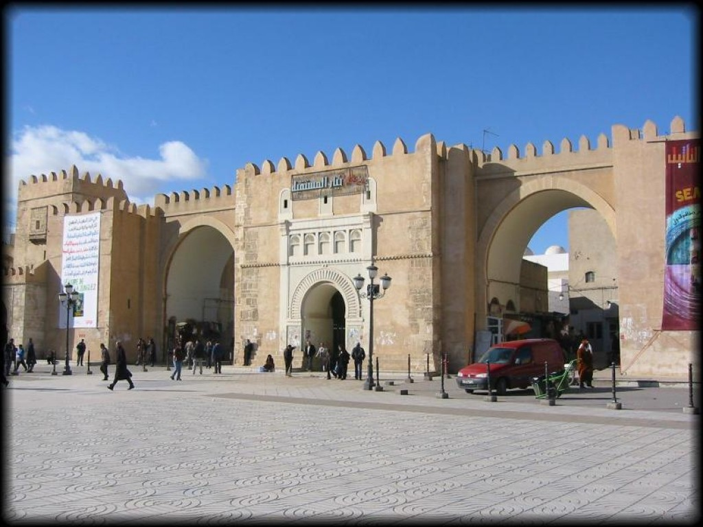 Twin gates of Bab Diwan, the main entry to the old medina.