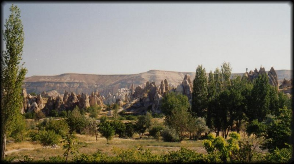 The region is dominated by strange volcanic rock formations, a lot of which were turned into cliff dwellings by early Christians escaping the Romans (in the 700s).  In the morning we headed out to the Goreme Open Air Museum, just outside of town.