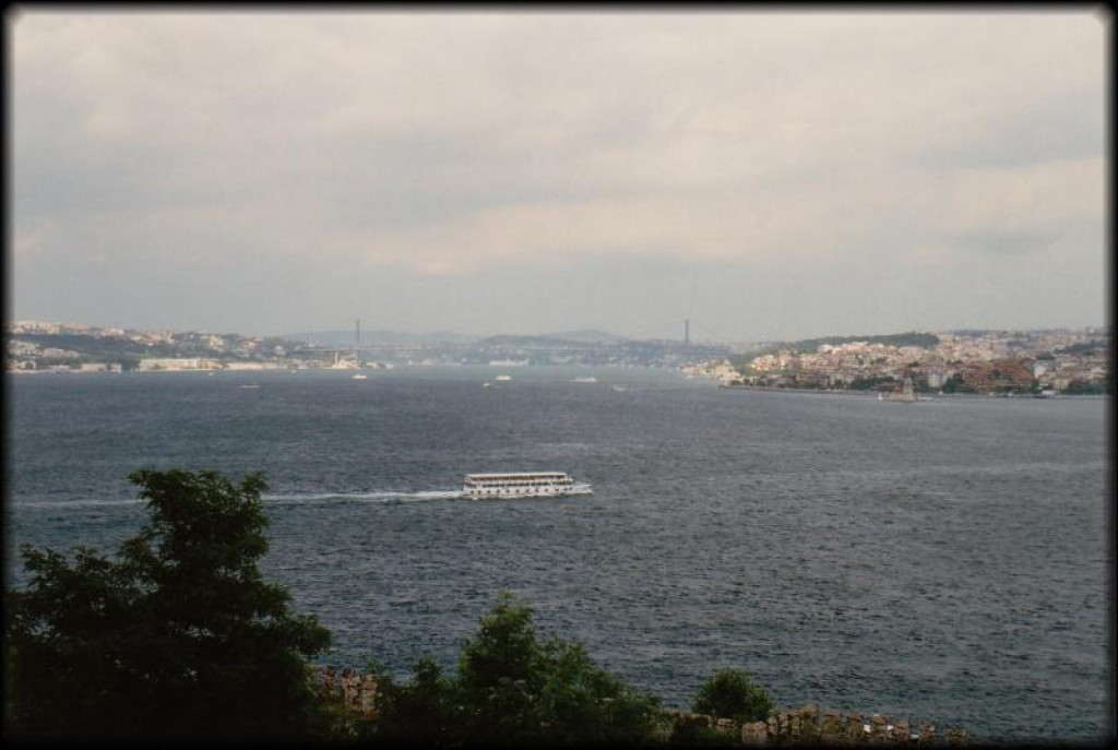 The Palace overlooks the Bosphorus.  In the distance you can see the bridge we crossed over on.