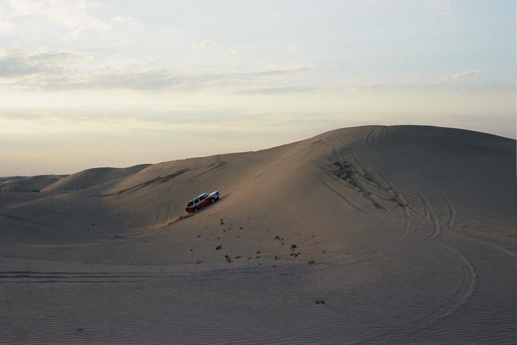 As part of our overnight excursion with Arabian Adventures, we went dune bashing. It's like a rollercoaster ride across the dunes, and it was a lot of fun.