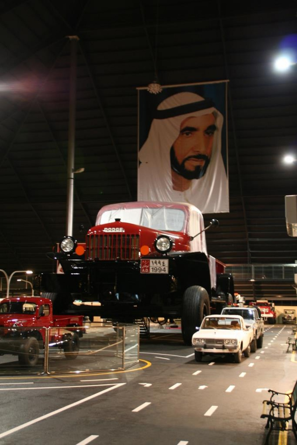Although it wasn't officially open yet, we were able to sneak a peak at the Rainbow Sheikh's car museum, including the largest pickup truck in the world.  It was a surreal experience.