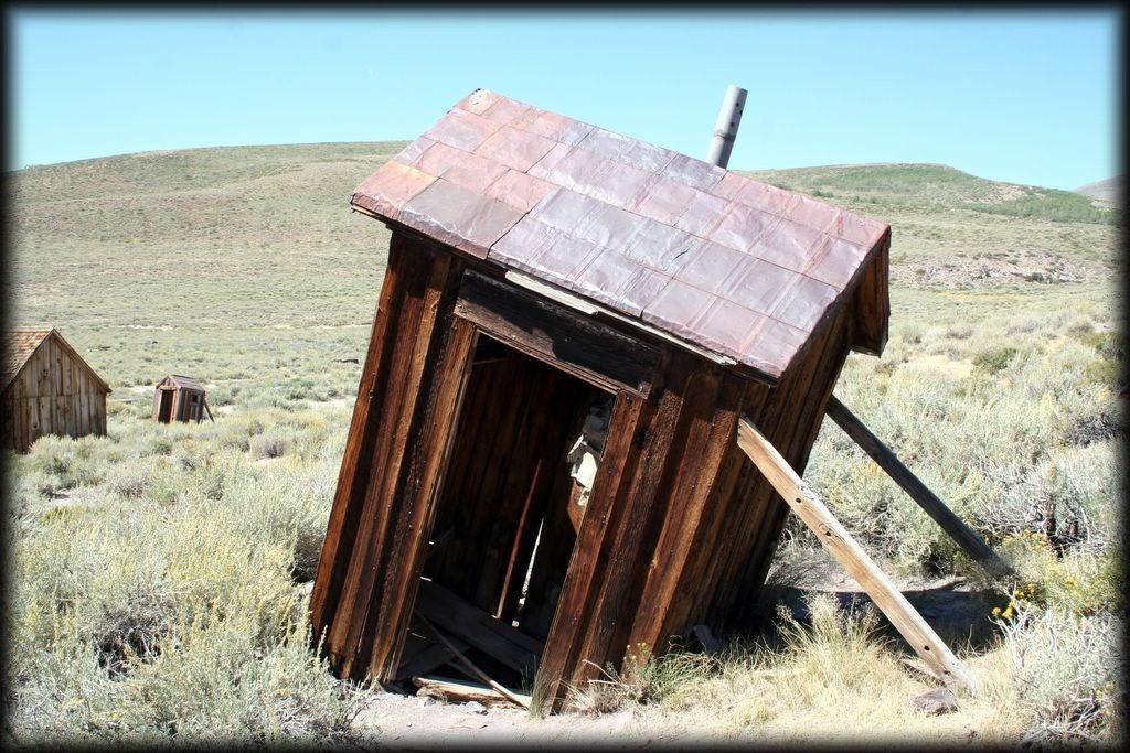 Leaning Outhouse of Bodie
