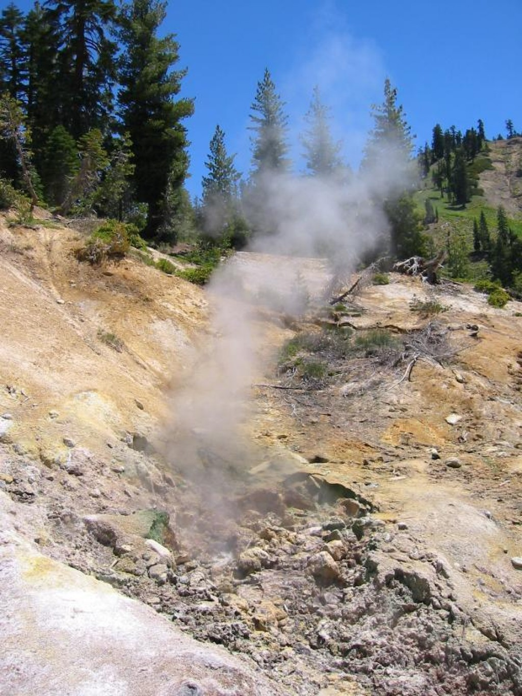 Mount Lassen is a region with a lot of geothermal activity.