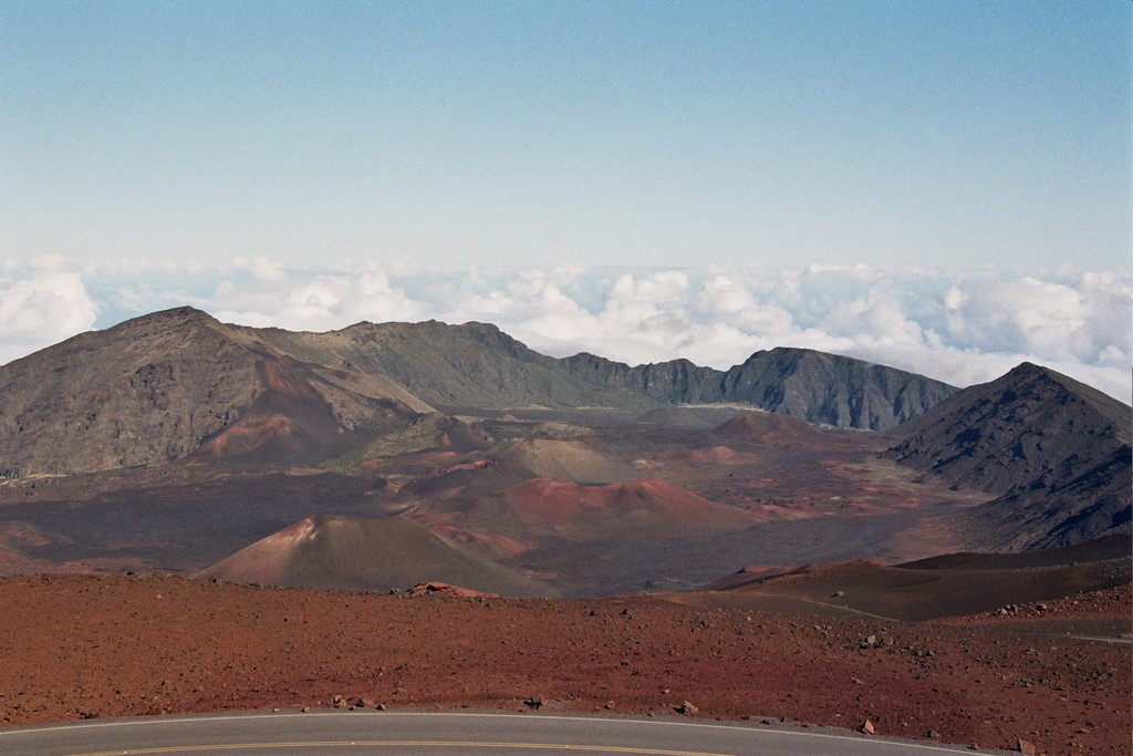 We drove up Mount Haleakala in our convertible for a wonderful view.  It was an easy drive, with lots of places to pull out.