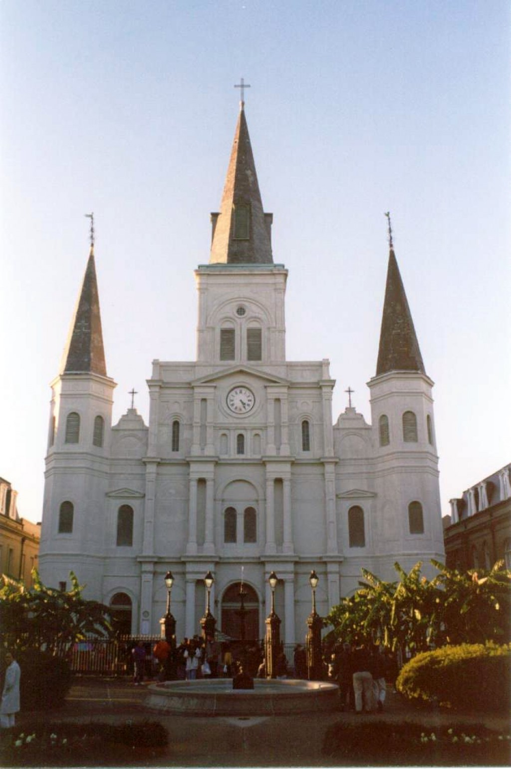 This is the St Louis cathedral off Jackson Square.  It is the oldest operational church in the US.