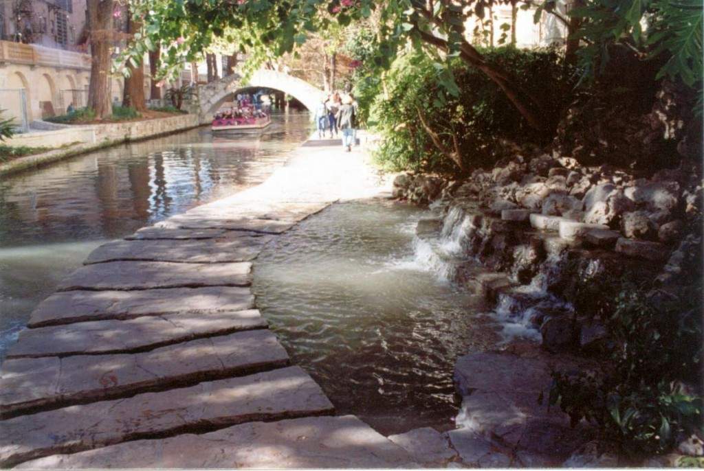 The riverwalk is a beautiful stretch of restaurants and shops following a river that meanders through downtown.