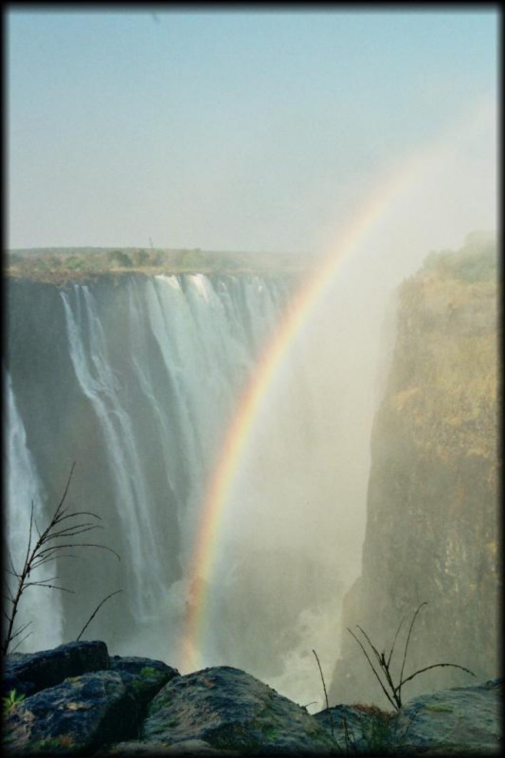 Victoria Falls.  We were lucky to be there at a time of year where the spray isn't too bad - during the rainy season, it's not uncommon that people can't even see the falls themselves.