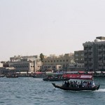 Getting across Dubai Creek by dhow