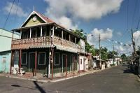 Building on the Main Street of Gros Islet
