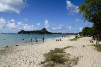 Public Beach close to Gros Islet