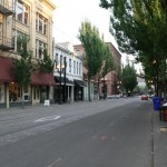 Downtown street in Portland