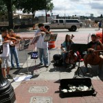 Musicians performing classical music at the Saturday Market