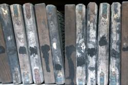 Some of the woodblocks of the Tripitaka Koreana
