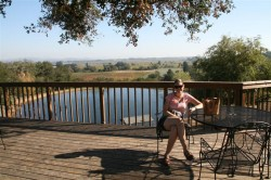 Balcony with tables for a picnic, Armida Winery