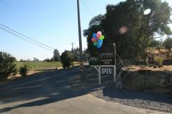 Entrance to Armida Winery off Westside Road
