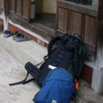 Our daypack and Ian's big pack in Korea