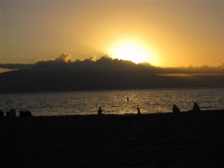 Beautiful sunsets every night from Kaanapali Beach