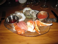 Seafood appetizer at Roy's Hawaiian Fusion, Kauai
