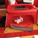 Trying out the Phil & Teds Traveler (Travel Cot) at home