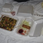 Take out meal from ICF Chinese Restaurant in Barstow