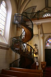 Spiral staircase in the Loretto Chapel