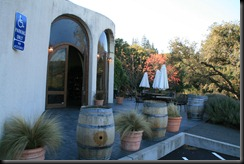 The patio and entrance at Fritz Winery.