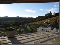 The patio at Sbragia Family Vineyards