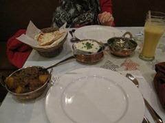 Dinner is served at Everest Restaurant.