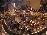 Christmas Village in the Robeiro Family house