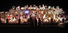 Robeiro family Christmas lights, Novato, CA