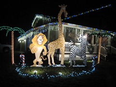 The Weaver Family Christmas display spills out onto their neighbour's yards.