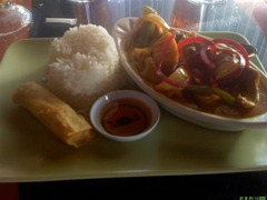 Pumpkin curry lunch special at Thai Issan, Petaluma, Califonia