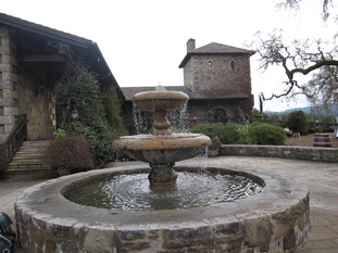 The fountain beckons you to relax and linger a while at V. Sattui Winery in the famous Napa Valley, Cailfornia