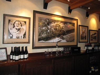 Clark Gable and other famous actors grace the walls in the The Old Winery Tasting Room,  Beringer Vineyard, Napa Valley, California