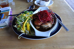 Spicy  Barbeque Chicken at the Fat Dog Cafe, Rotorua, New Zealand