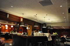 Inside Tulsi, a great Indian restaurant in downtown Wellington, New Zealand