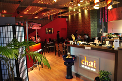 Interior of Chai, South East Asian Cuisine, Napier, New Zealand