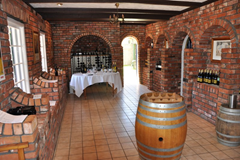 Inside the tasting room at Brookfields Vineyards, Hawke's Bay, New Zealand