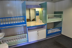Nursery and changing station on the Interislander Ferry
