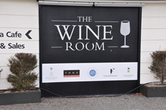 Outside the entrance to The Wine Room, a great place to sample the region's wine in Marlborough, New Zealand