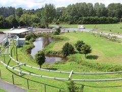 The Shweeb track in Rotorua