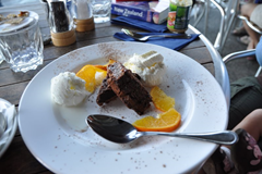 The Chocolate Torte made a pleasant enough ending to our dinner at The Reef Seafood Restaurant & Bar