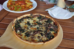 Venison Pizza at La Toscana Pizzeria. Te Anau