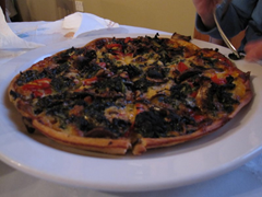 Small pizza at Blue Ice Cafe, Franz Josef