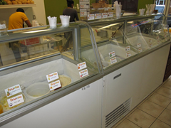 Fruta offers lots of flavors of their delicious ice cream - from the traditional to the more adventurous.