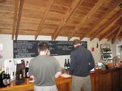 The laid back bar in the tasting room/cellar door at Allan Scott Family Winemakers.