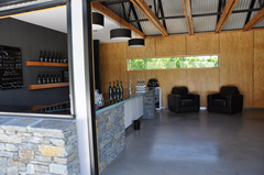 The low key cellar door/tasting room at Brennan Winery in New Zealand's Central Otago wine region, is the only place to purchase their great wine.
