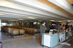 Inside the cellar door/tasting room at Peregrine Wines