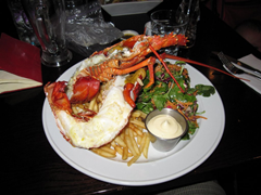 Rock lobster, aka Crayfish at Fishbone Bar and Grill, Queenstown, New Zealand