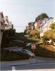 It's crazy enough driving down windy Lombard Street in San Francisco.  Now, just imagine what luging down it would be like!
